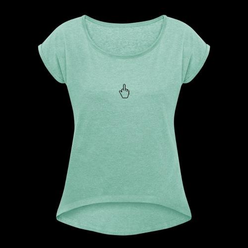 17109 200 - T-shirt à manches retroussées Femme
