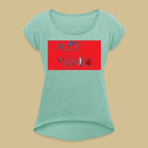 JODETE - Camiseta con manga enrollada mujer