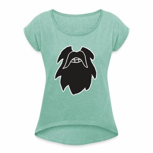 Parta Games Logo T-Shirt - Naisten T-paita, jossa rullatut hihat