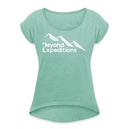 Beyond Expeditions White Logo - T-shirt à manches retroussées Femme