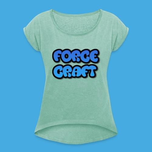 ForceCap - T-shirt med upprullade ärmar dam