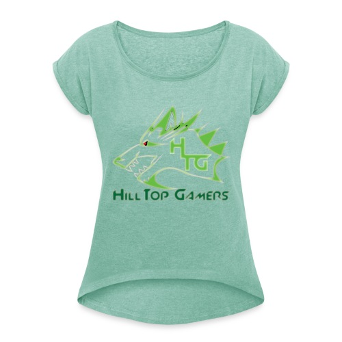 HillTop Gamers - Women's T-Shirt with rolled up sleeves