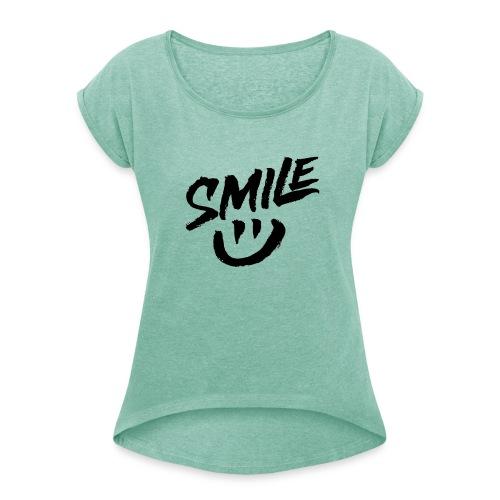 Smile - T-shirt à manches retroussées Femme