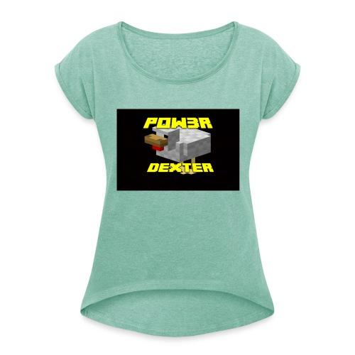 Pow3r canale-gaiz-maglia- speciale edizione - Maglietta da donna con risvolti