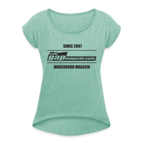 SINCE 2007 - Frauen T-Shirt mit gerollten Ärmeln