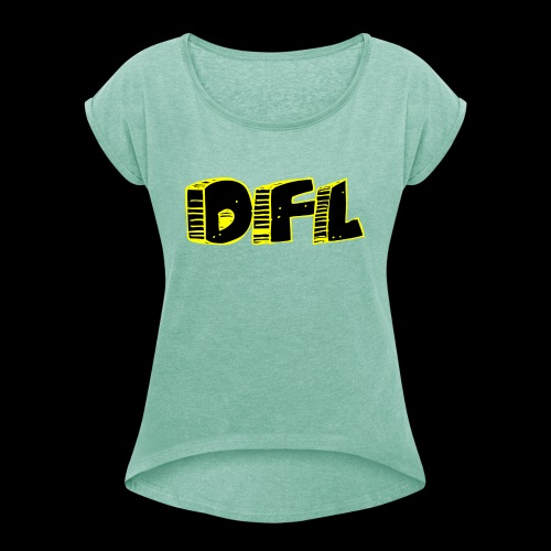 DFunctionaL Logo - Women's T-Shirt with rolled up sleeves