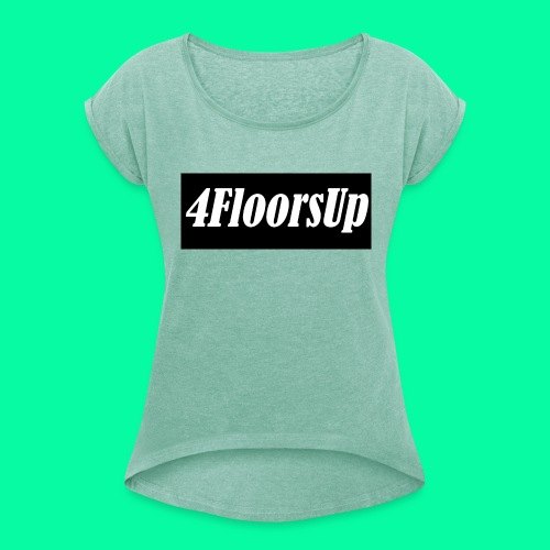 New Logo - Women's T-Shirt with rolled up sleeves