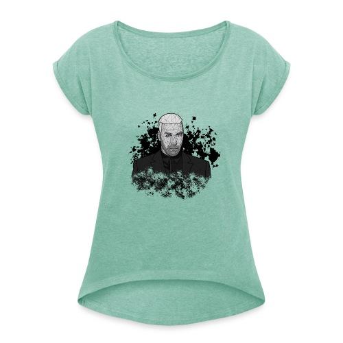 Till Lindemann - Frauen T-Shirt mit gerollten Ärmeln