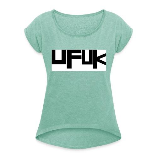 u-300-1- - Frauen T-Shirt mit gerollten Ärmeln