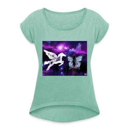 Pegase - T-shirt à manches retroussées Femme