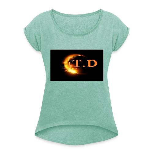 td - T-shirt à manches retroussées Femme