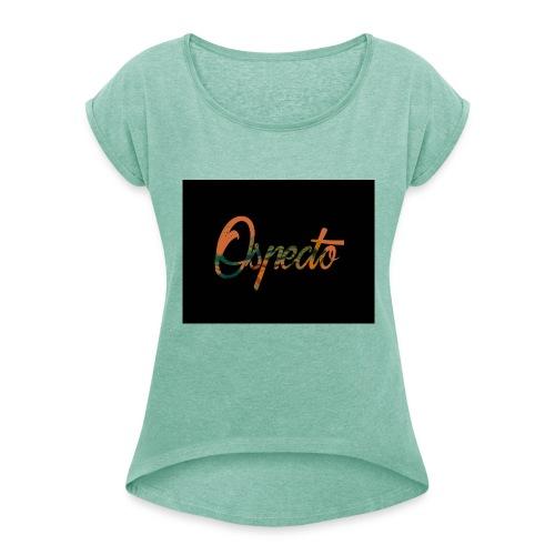 Ospecto logo - T-shirt à manches retroussées Femme