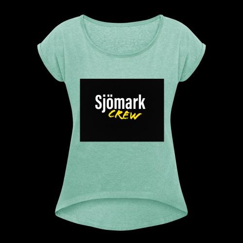 Loggo huvtröja - T-shirt med upprullade ärmar dam