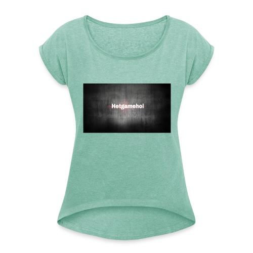 image - Vrouwen T-shirt met opgerolde mouwen