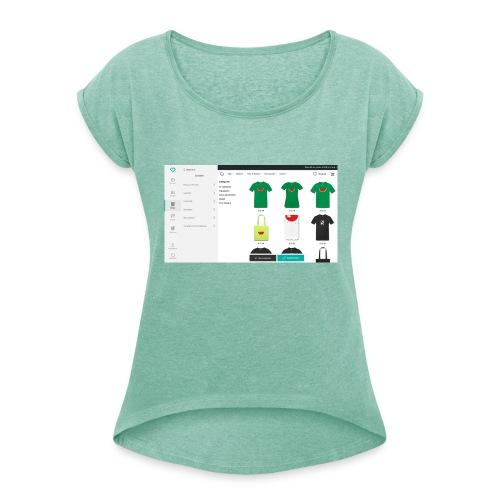 Advanced_settings - Frauen T-Shirt mit gerollten Ärmeln