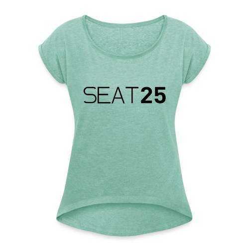 Seat25 Logo Dark - Women's T-Shirt with rolled up sleeves