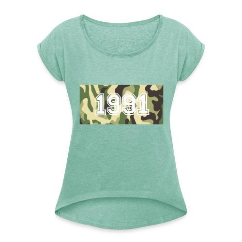 Camouflage 1991 - Frauen T-Shirt mit gerollten Ärmeln