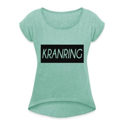 Kranring_Shirt_Logo - T-shirt med upprullade ärmar dam