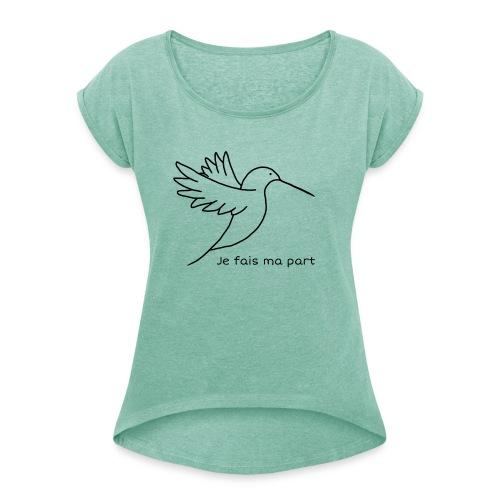 Colibri - T-shirt à manches retroussées Femme