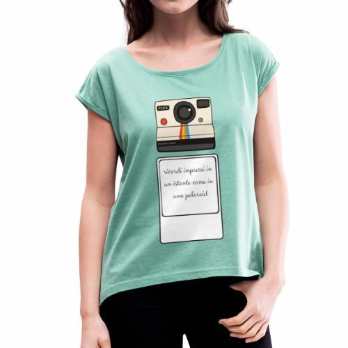 polaroid - Maglietta da donna con risvolti