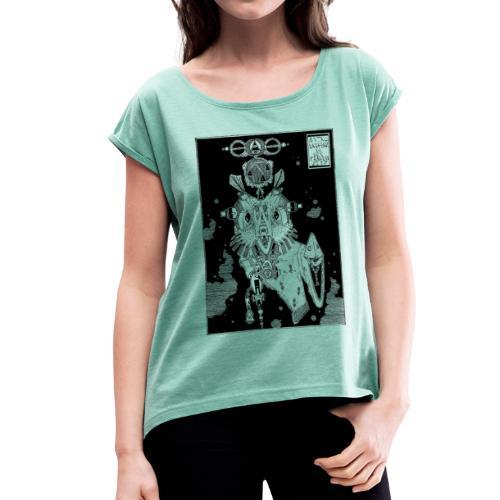 ASTRO ERDFERKEL - Frauen T-Shirt mit gerollten Ärmeln