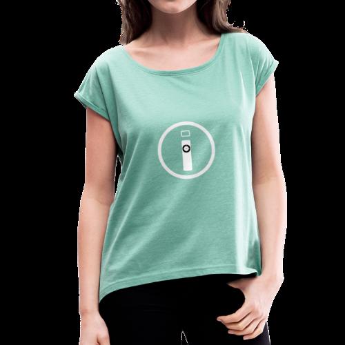 iTechMania Logo - Maglietta da donna con risvolti