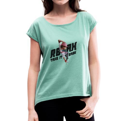 MK - T-shirt à manches retroussées Femme