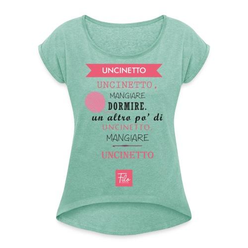 Uncinetto quotidiano - Maglietta da donna con risvolti