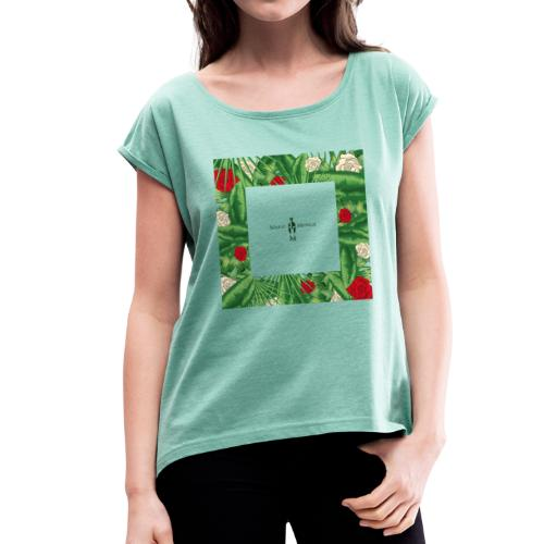 Urban Jungle | Tropical Square - Frauen T-Shirt mit gerollten Ärmeln