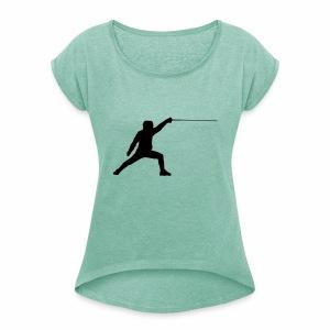 Fencer - Frauen T-Shirt mit gerollten Ärmeln