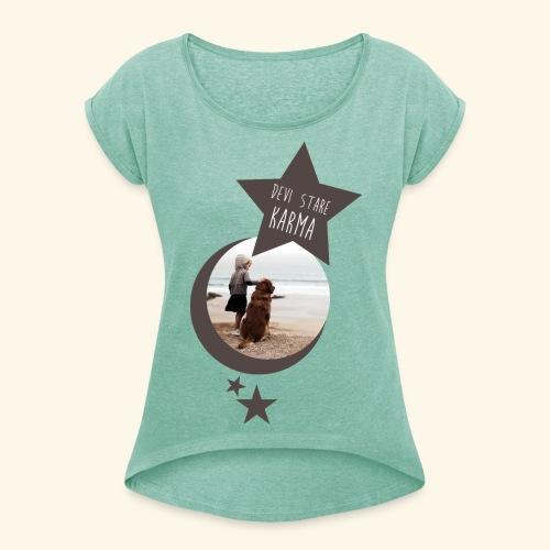 DEVI STARE KARMA 2 - Maglietta da donna con risvolti