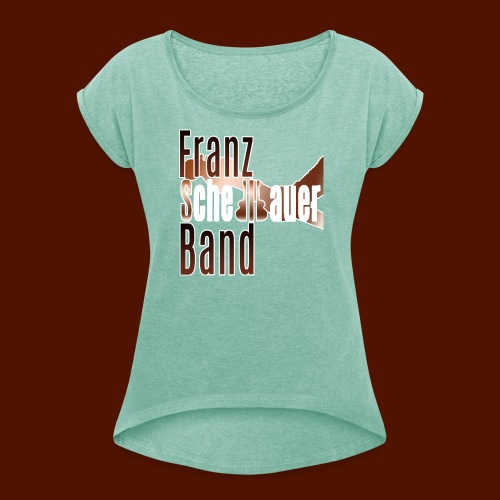 FSB logo brown - Women's T-shirt with rolled up sleeves
