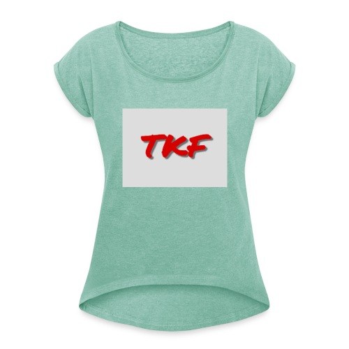 Hoodies, t-shirts and more - Women's T-Shirt with rolled up sleeves