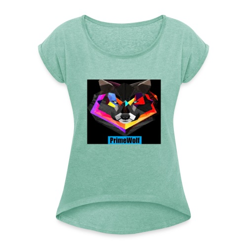 PrimeWolf Design - Women's T-Shirt with rolled up sleeves