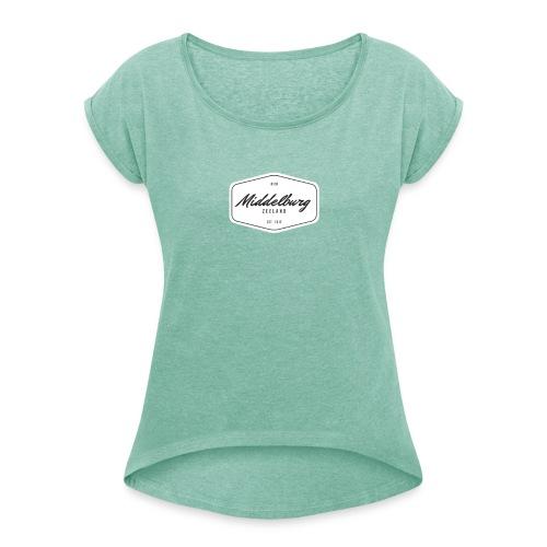 0118 Middelburg - Vrouwen T-shirt met opgerolde mouwen