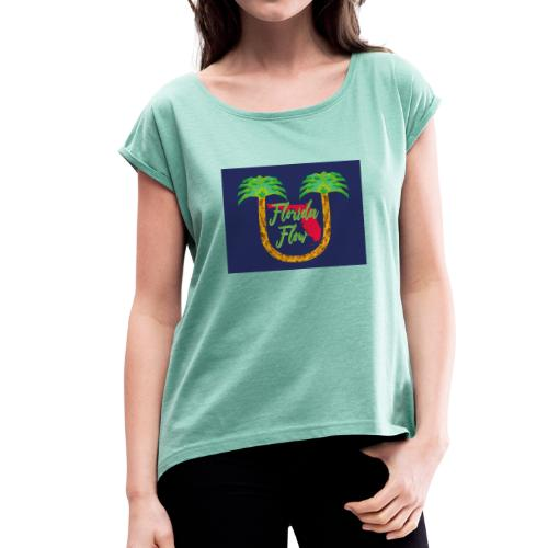 Florida Flow - T-shirt med upprullade ärmar dam