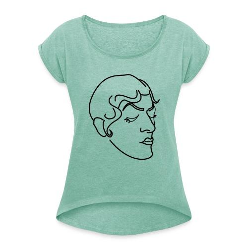 Corrine Rose dans ta face OK - T-shirt à manches retroussées Femme