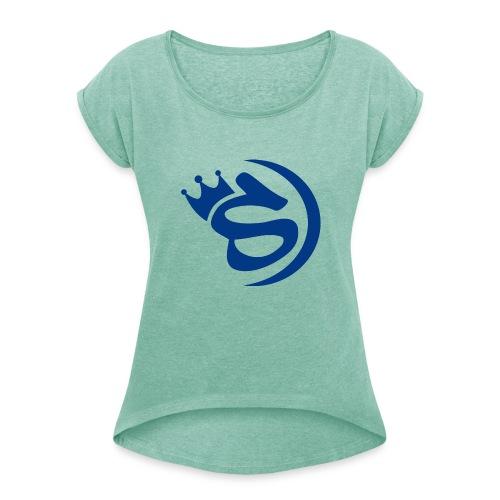 S blau - Frauen T-Shirt mit gerollten Ärmeln