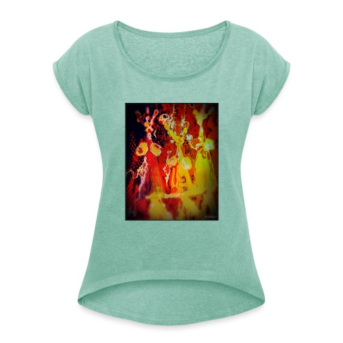 Party girls - Frauen T-Shirt mit gerollten Ärmeln