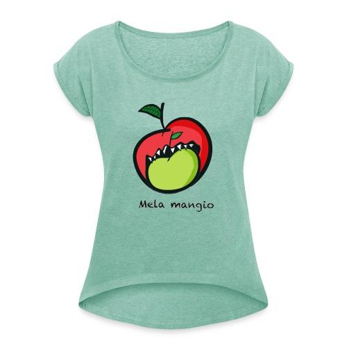 Angry for apple-Mela mangio - Maglietta da donna con risvolti