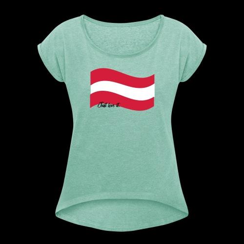 JustLoveIt - Frauen T-Shirt mit gerollten Ärmeln