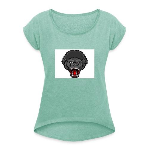gorilla - Vrouwen T-shirt met opgerolde mouwen