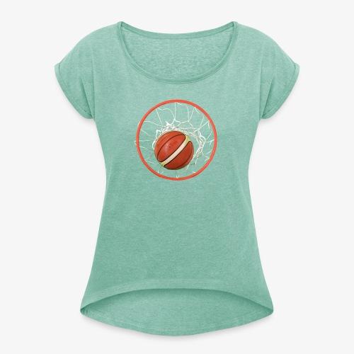 Baloncesto - Camiseta con manga enrollada mujer