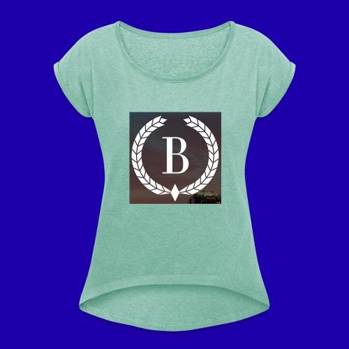 Brosherden - T-skjorte med rulleermer for kvinner
