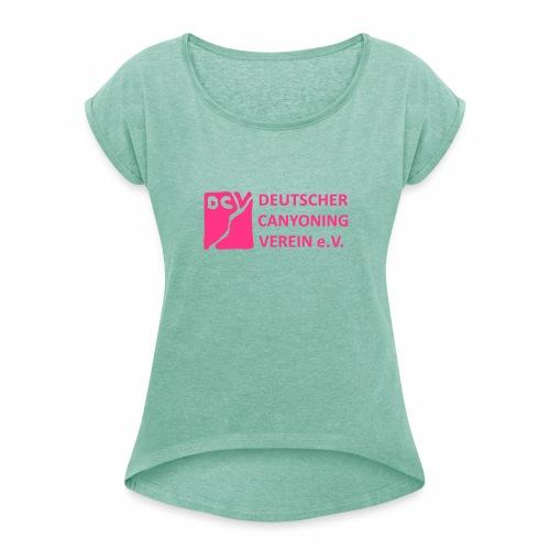 DCV Logo einfarbig - Frauen T-Shirt mit gerollten Ärmeln