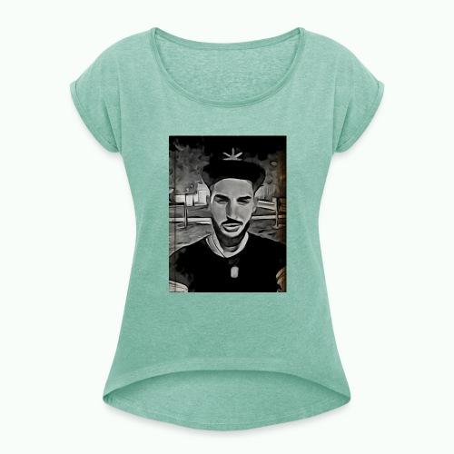Rapero - Camiseta con manga enrollada mujer