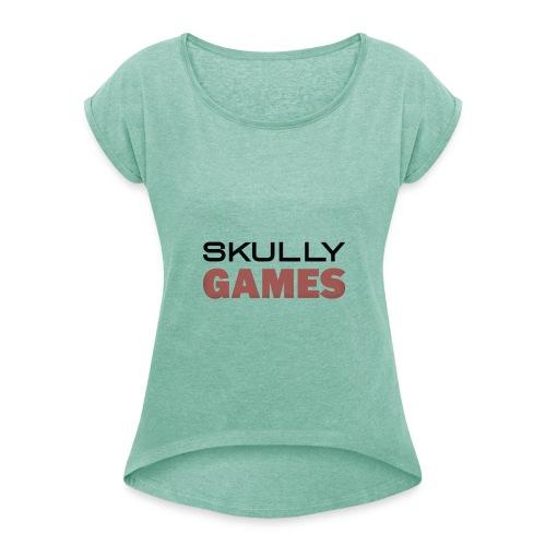 skullygames zomer editie - Vrouwen T-shirt met opgerolde mouwen