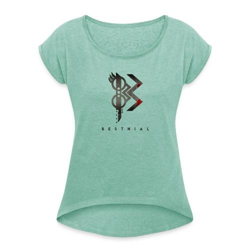 viking besthial - T-shirt à manches retroussées Femme