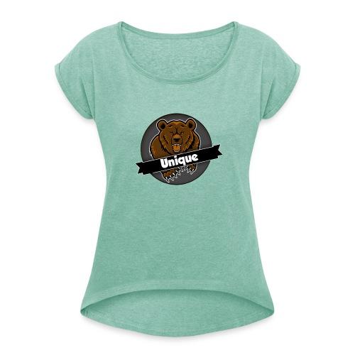Unique Clan T-Shirt - Vrouwen T-shirt met opgerolde mouwen