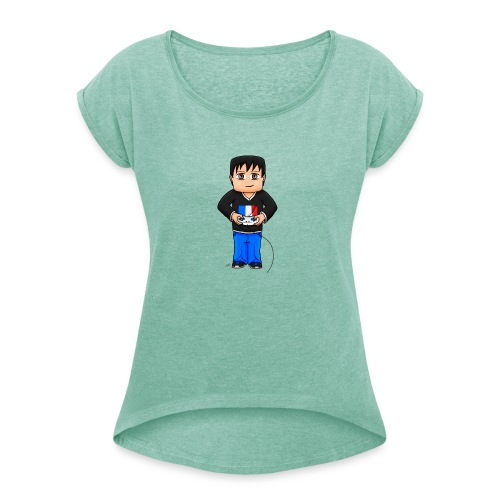 MaximeGaming - T-shirt à manches retroussées Femme